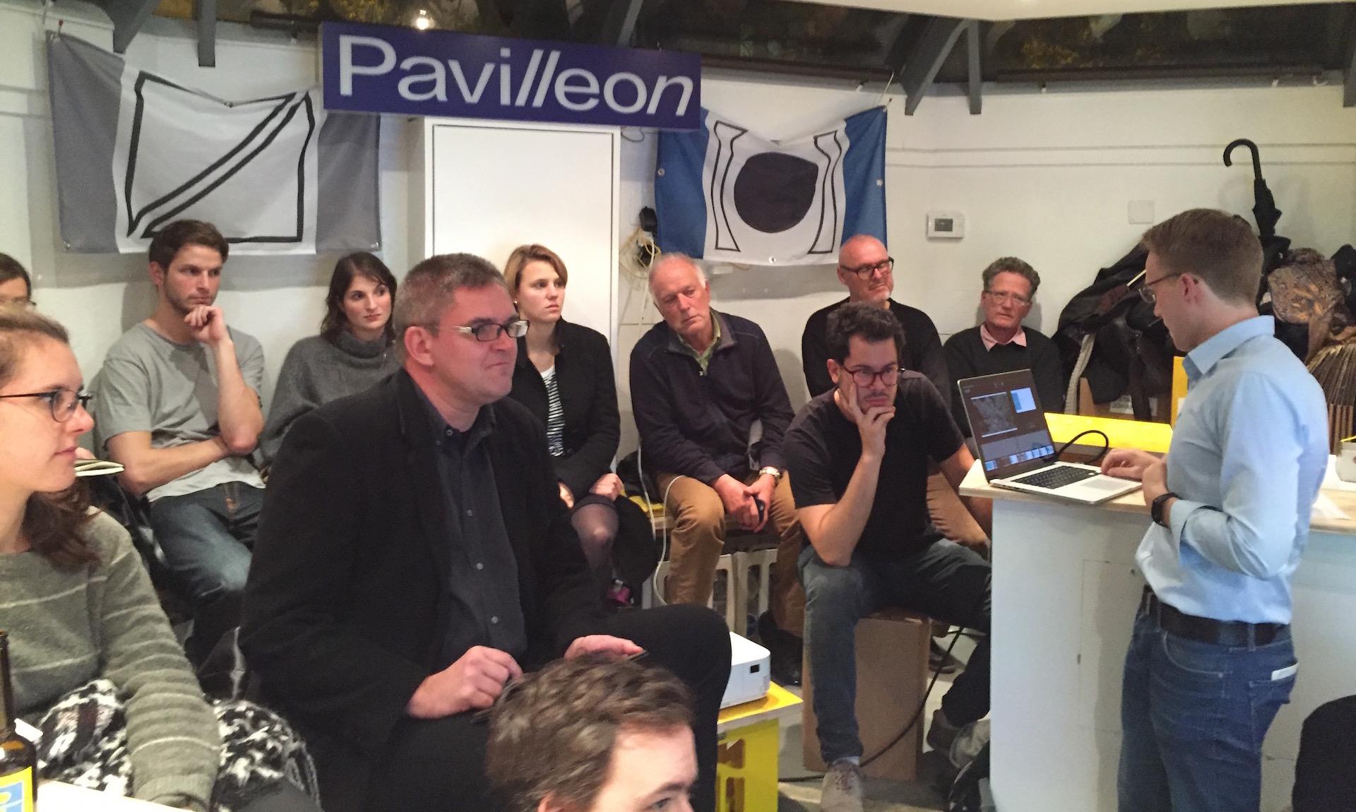 Publikum während eines Talks von Nextzürich im Pavilleon