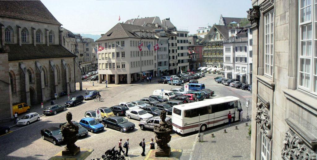 Ansicht Münsterhof Richtung Paradeplatz