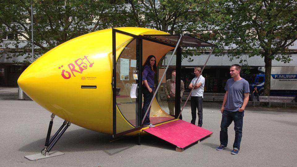 Mobiler Bau zum Sammeln von Bedürfnissen