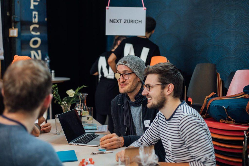 Engagiert für Nextzürich: Reto Burch und Tim Van Puyenbroeck